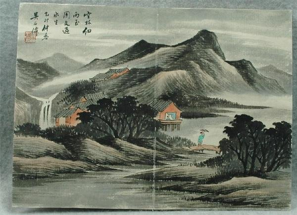717: Chinese  Paintings  Album