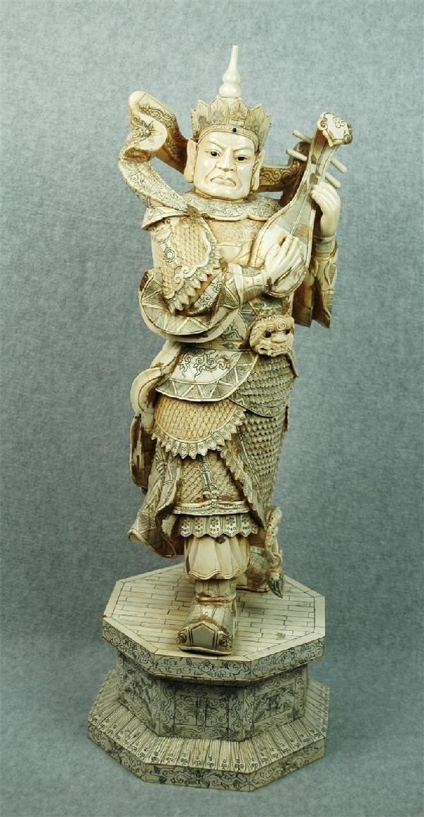847: Chinese  Large  Pieced   Ivory  Figural  Carving