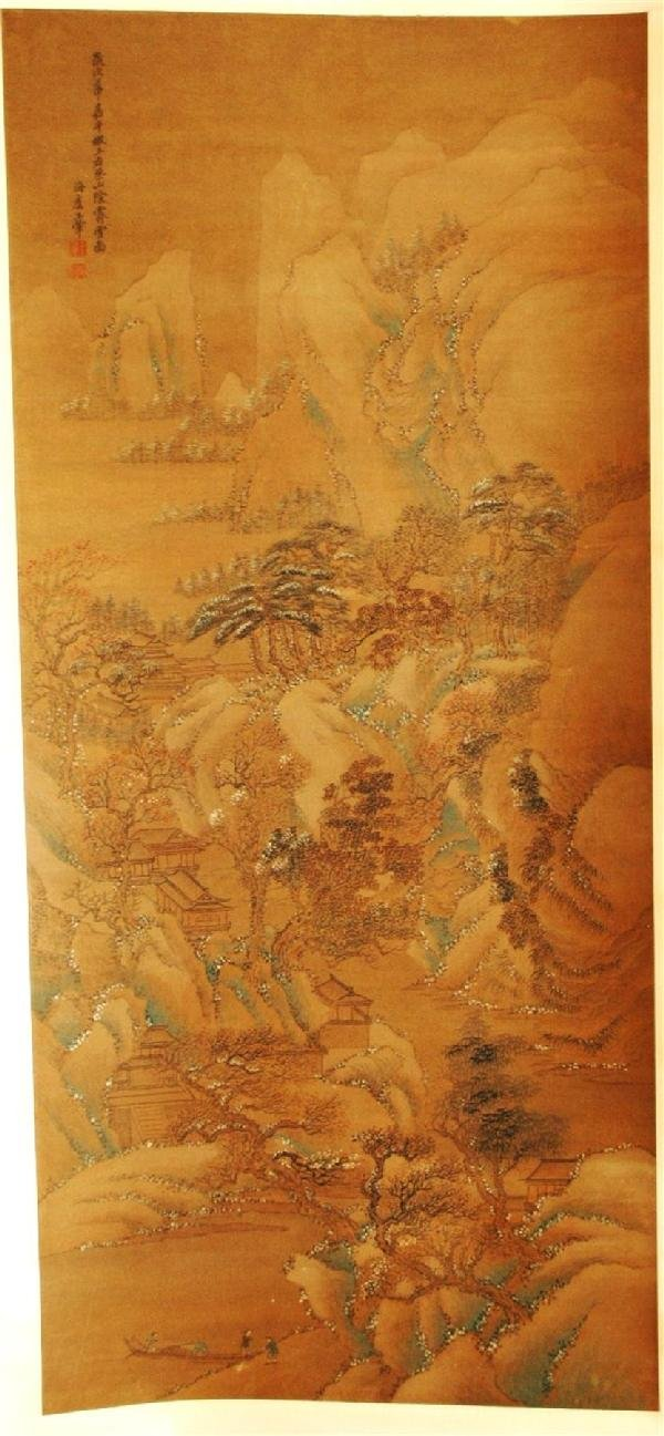 940: Chinese hanging scroll painting