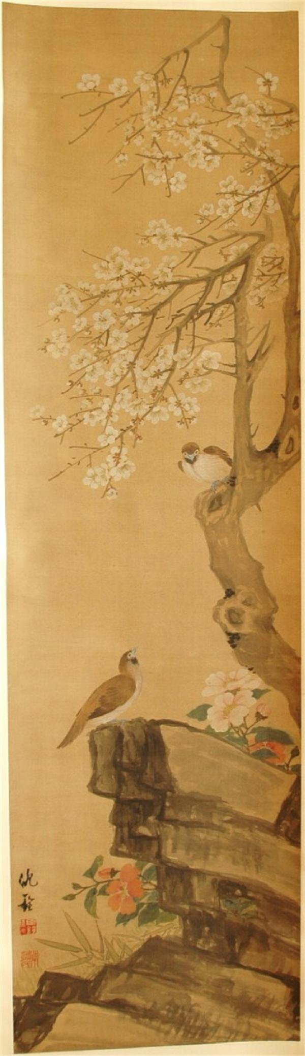 942: Chinese hanging scroll painting