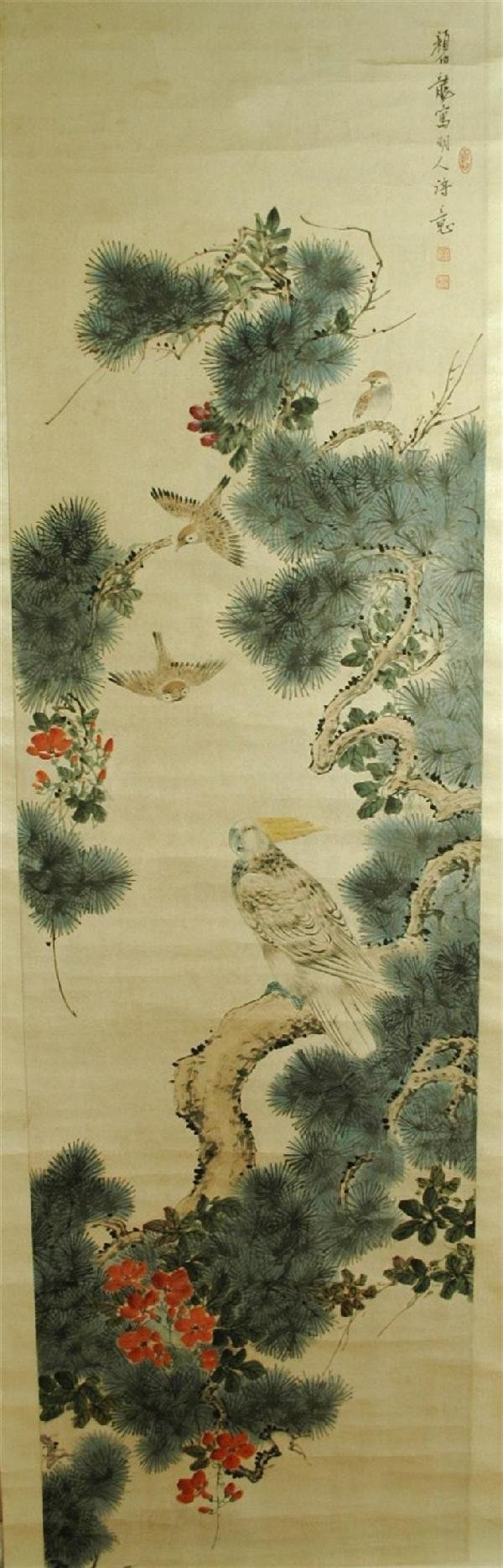 951: Chinese hanging scroll painting