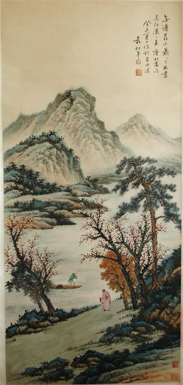 952: Chinese hanging scroll painting