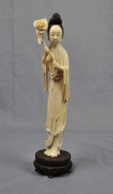 1161: Chinese ivory figural carving