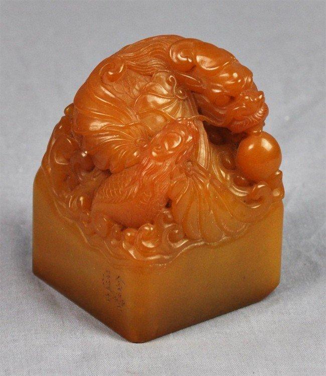 1210: Chinese tian huang stone seal