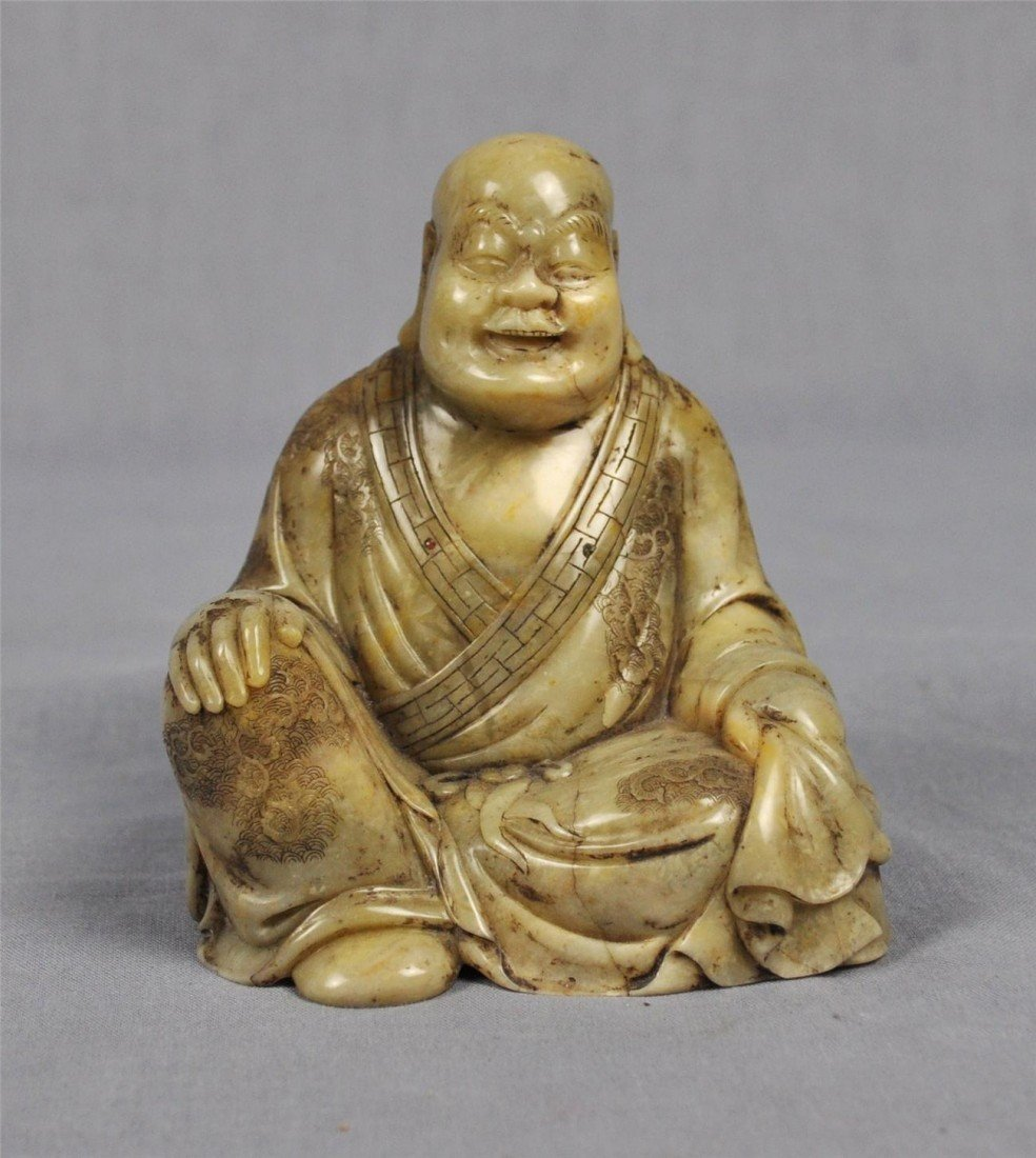 1336: Carved  Chinese  White  Shou-Shan  Stone  Louhan