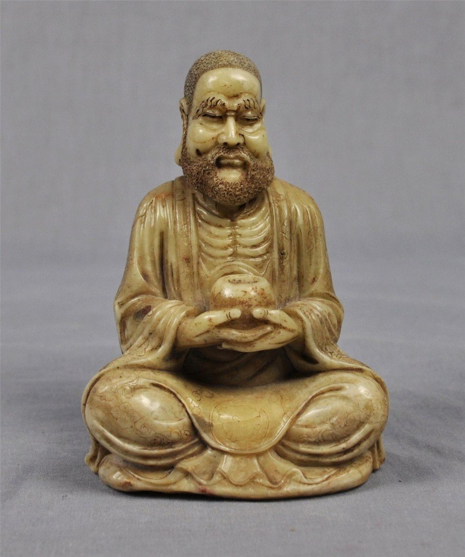 1338: Carved  Chinese  White  Shou-Shan  Stone  Louhan