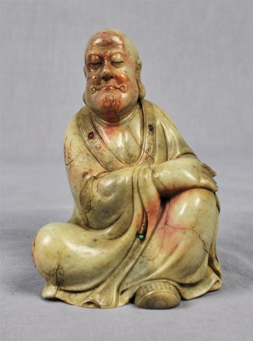 1339: Carved  Chinese  White  Shou-Shan  Stone  Louhan