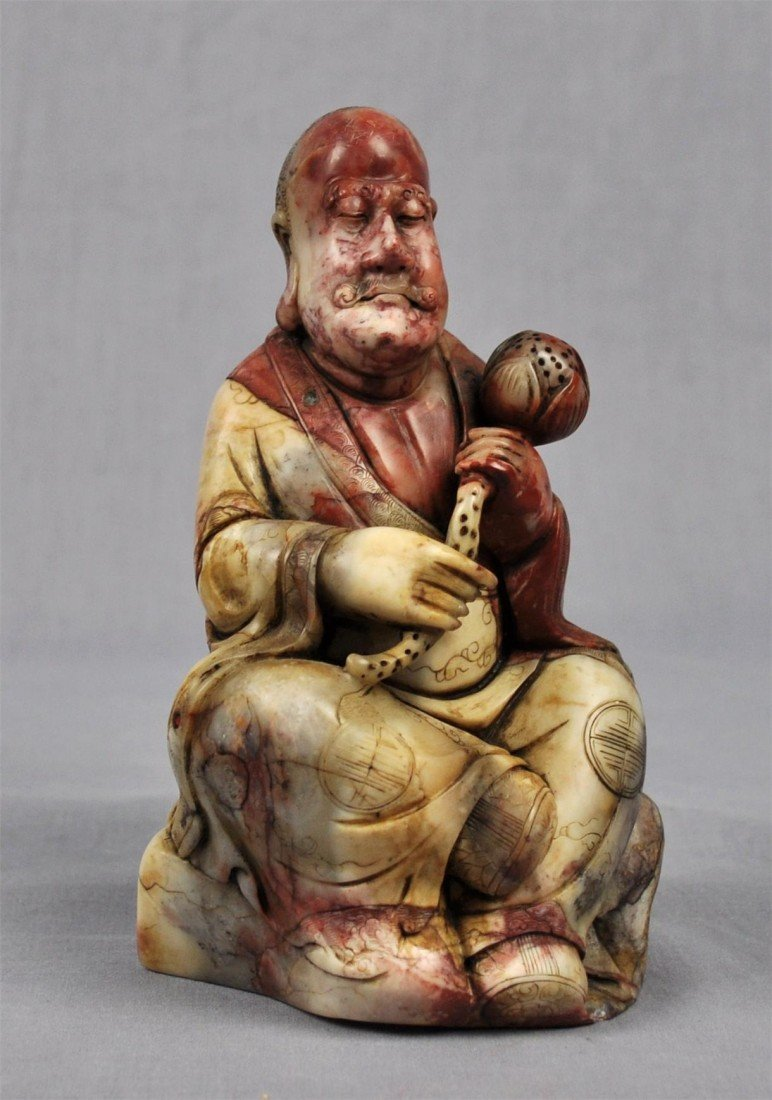 1344: Carved  Chinese  White  Shou-Shan  Stone  Louhan