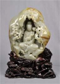 1500: large  Chinese  He-Tian  Jade  Boulder