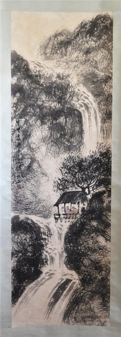 1541: Chinese  Water  On  Paper  Scroll  Painting