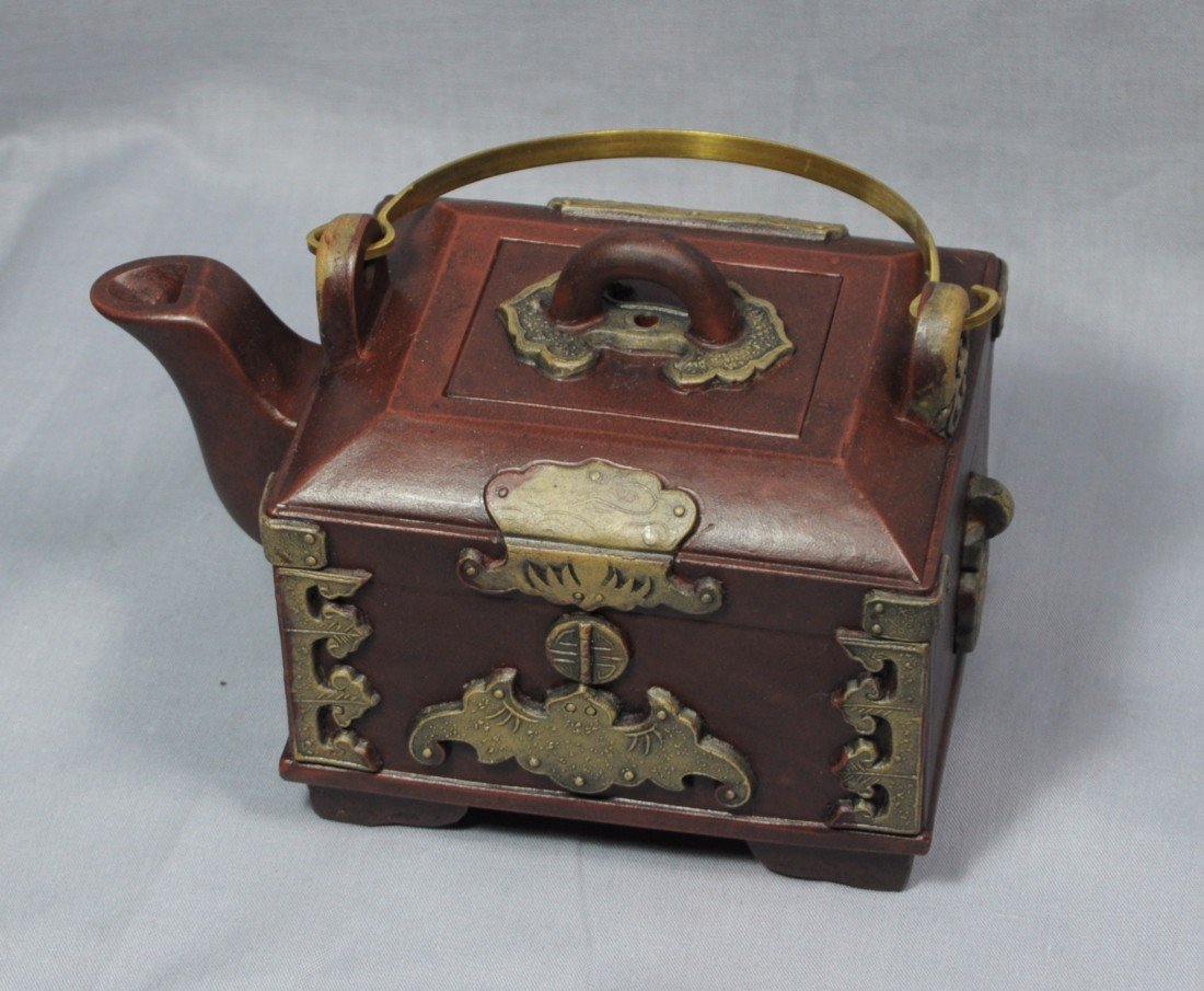 2172: Chinese  Ceramic  Teapot  with  mark