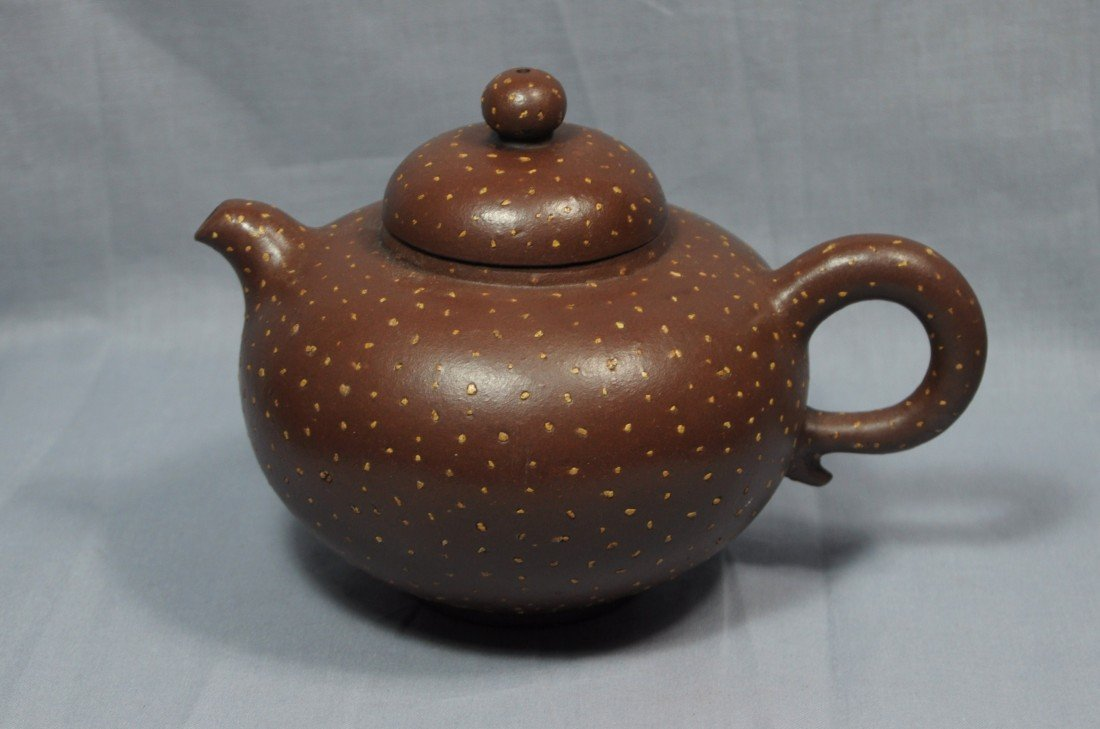2175: Chinese  Ceramic  Teapot  with  mark