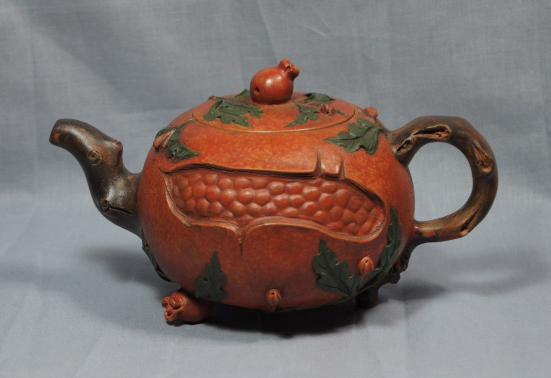 2178: Chinese  Ceramic  Teapot  with  mark