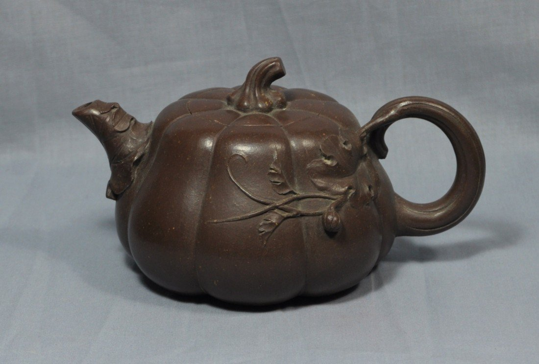 2180: Chinese  Ceramic  Teapot  with  mark