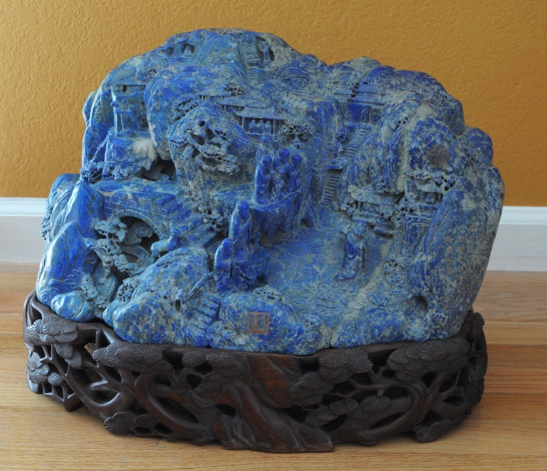2295: Massive  Hand  Carved  Lapis  Boulder. 18th Centu