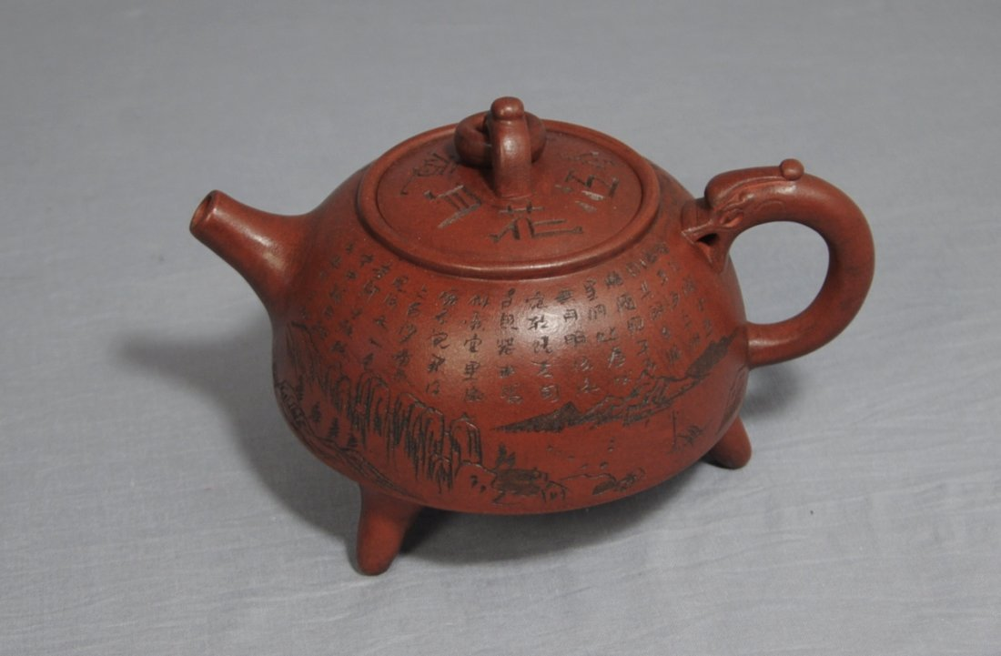 3100: Chinese Ceramic Teapot with mark