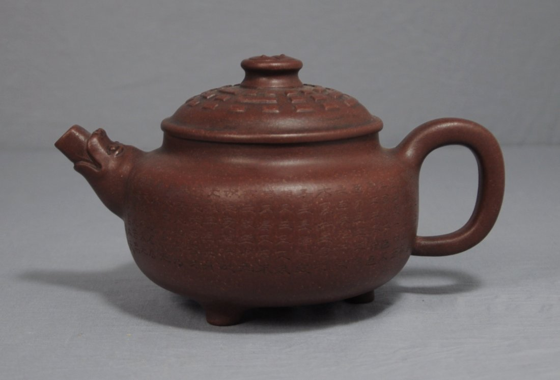 3102: Chinese Ceramic Teapot with mark