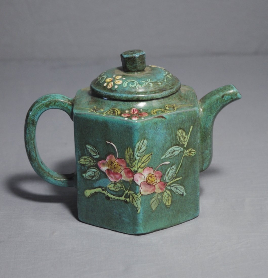 3107: Chinese Ceramic Teapot with mark