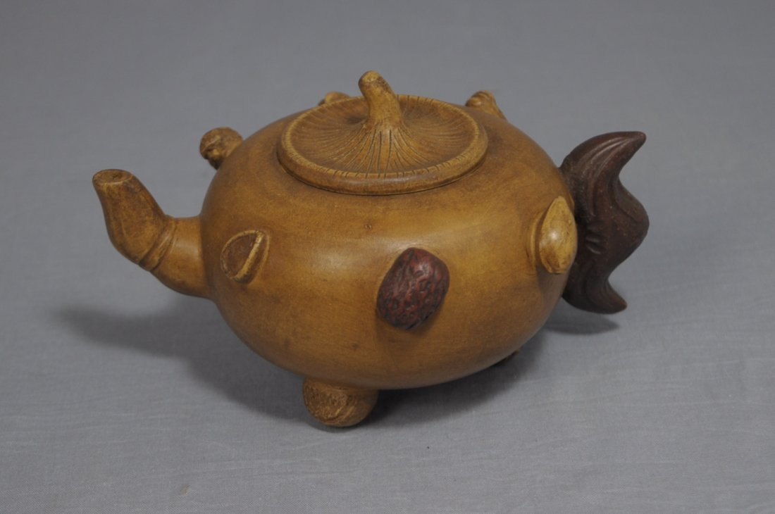 3109: Chinese Ceramic Teapot with mark