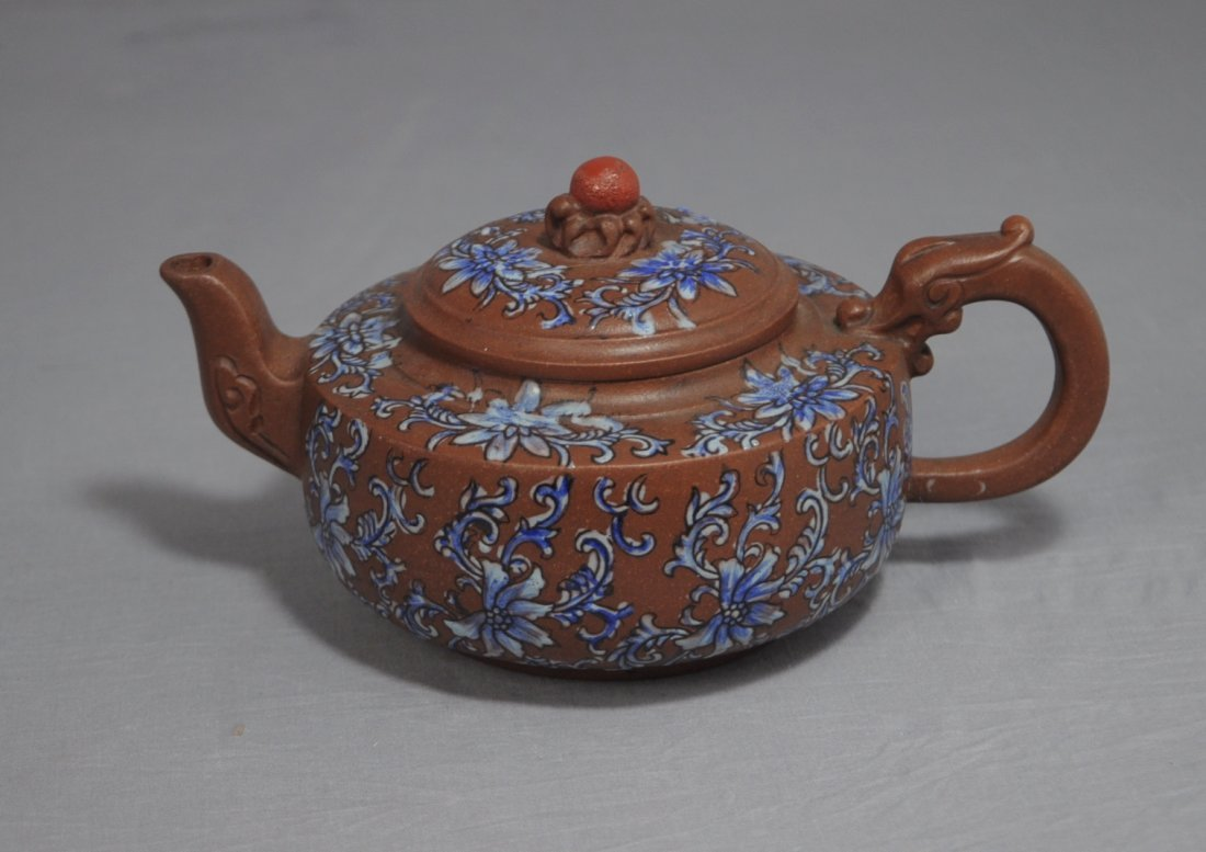 3120: Chinese Ceramic Teapot with mark