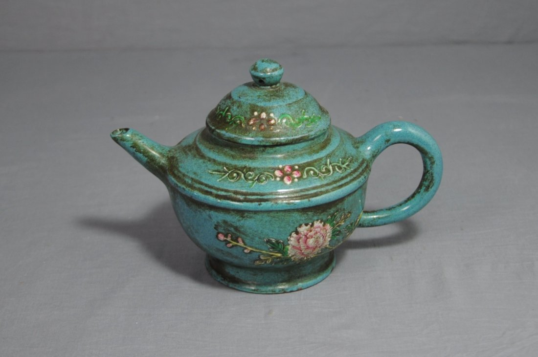 3123: Chinese Ceramic Teapot with mark