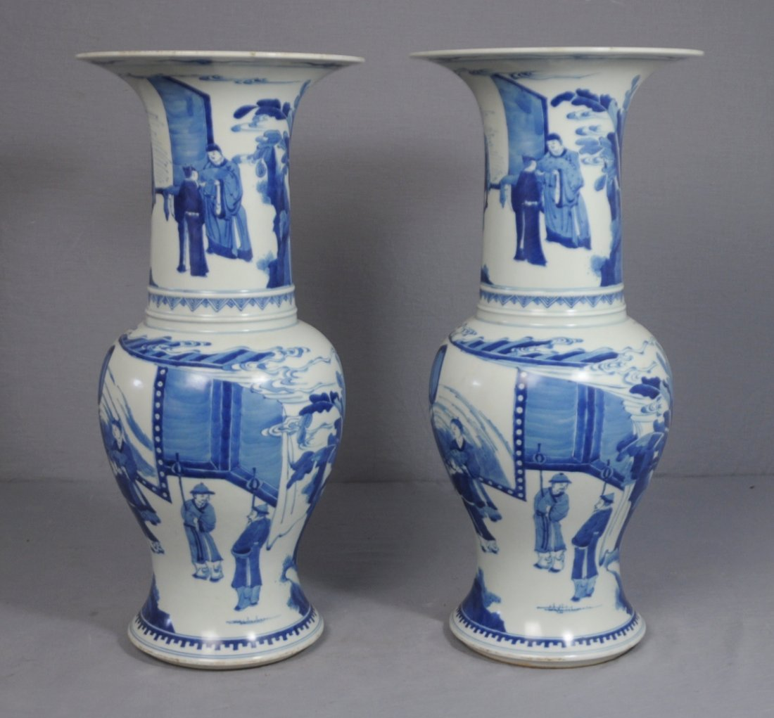 3312: Pair of  Chinese  Blue and White  Porcelain  Beak