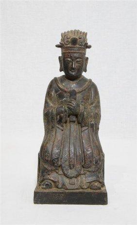 Chinese Antique Bronze Scholar Figure