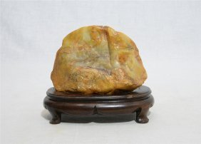 Nice Hand Carved Chinese Changhua Tianhuang Stone Bould