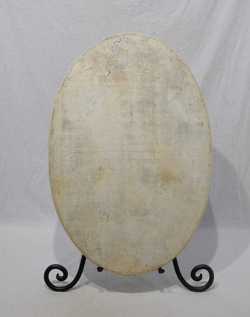 Large Oval Shape Chinese Famille Rose Porcelain Plaque - 4