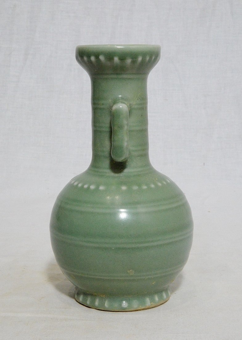 Small Chinese Green Celadon Porcelain Vase - 2