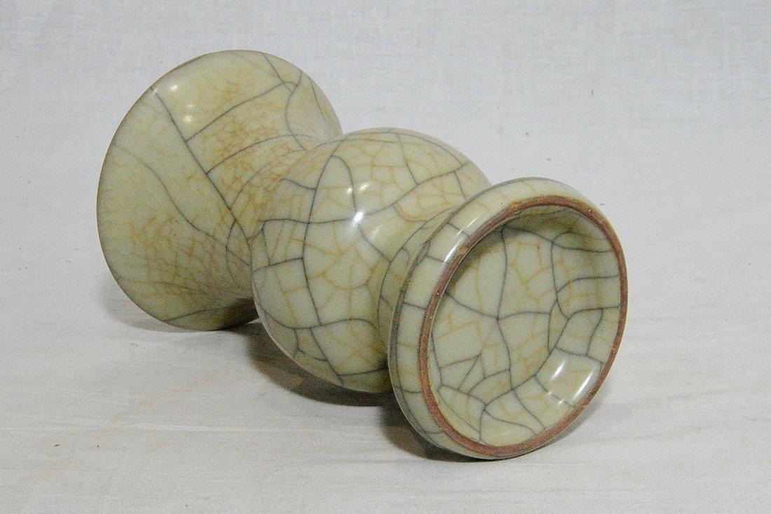 Chinese Celadon Crackle Porcelain Vase - 4