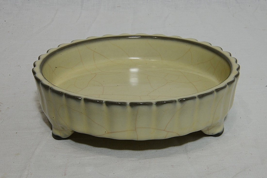 Chinese Celadon Tripod Crackle Porcelain Brush Washer