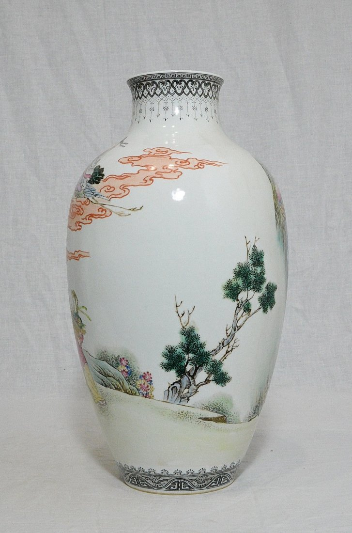 Chinese Famille Rose Porcelain Vase With Mark - 5