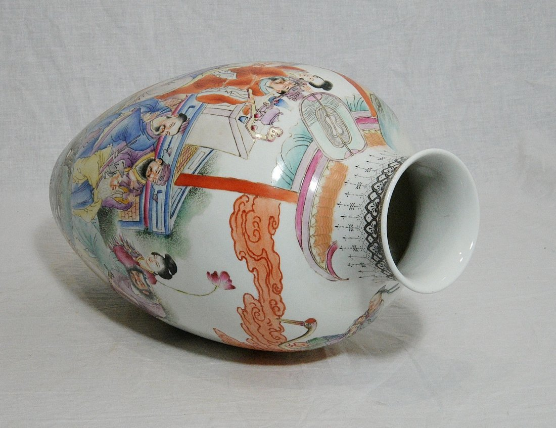 Chinese Famille Rose Porcelain Vase With Mark - 7