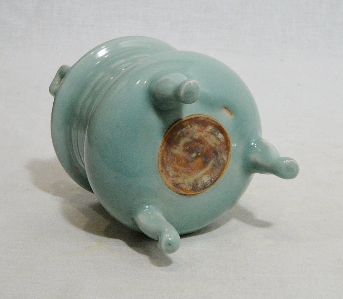Chinese Tripod Celadon Porcelain Incese Burner - 5