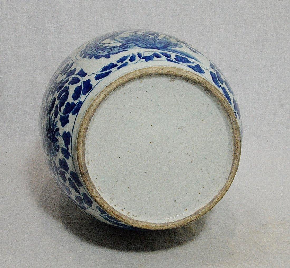 Large Chinese Blue and White Porcelain Vase - 8