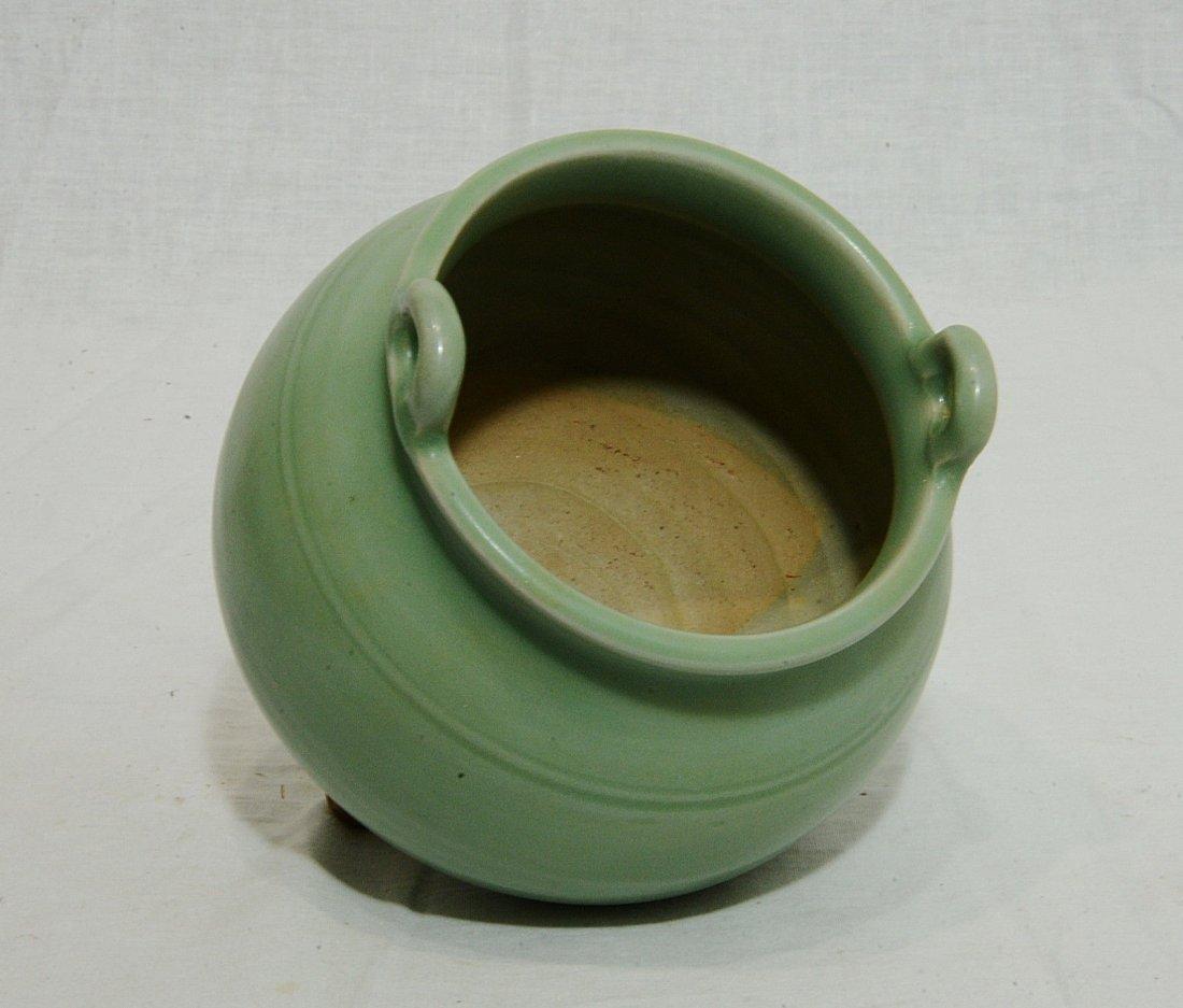 Chinese Celadon Tripod Porcelain Incense Burner - 4
