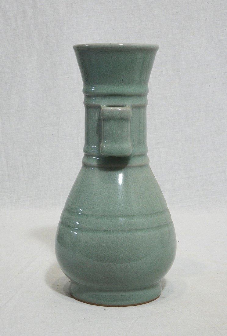 Chinese Monochrome Glaze Porcelain Vase - 2