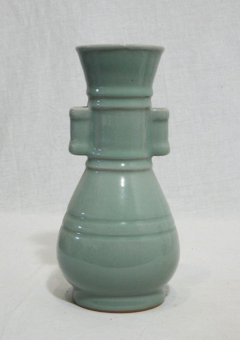 Chinese Monochrome Glaze Porcelain Vase - 3