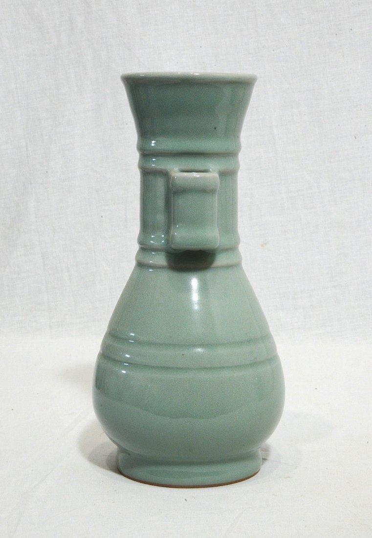 Chinese Monochrome Glaze Porcelain Vase - 4