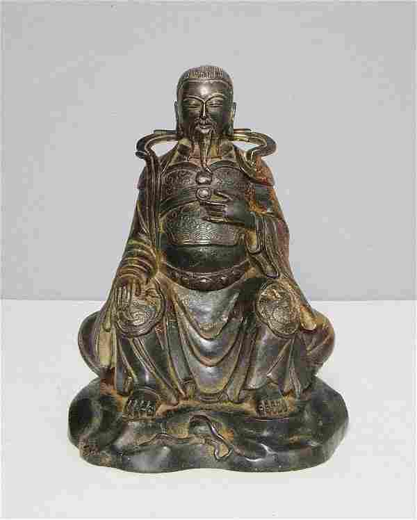 Chinese Antique Bronze Statue of Warrior