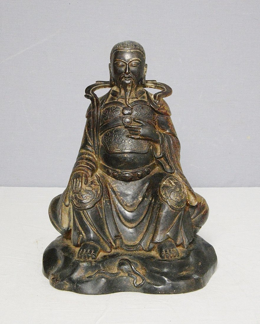 Chinese Antique Bronze Statue of Warrior