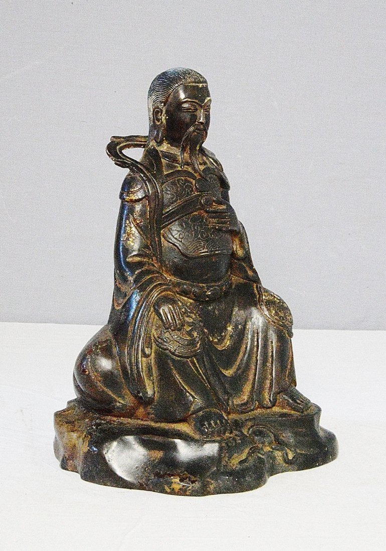 Chinese Antique Bronze Statue of Warrior - 2