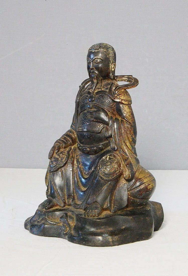 Chinese Antique Bronze Statue of Warrior - 3