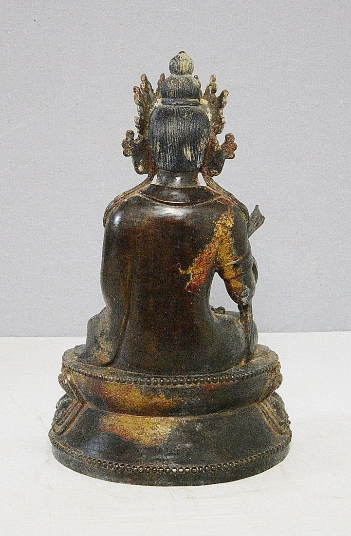 Chinese Antique Bronze Statue of Buddha - 4