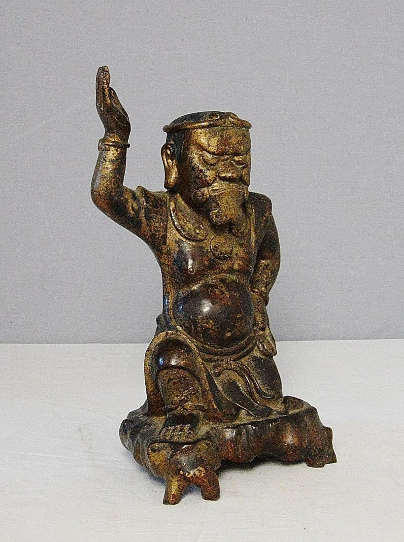 Chinese Antique Bronze Statue of Scholar - 2