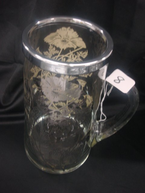 8: Mixer Pitcher, applied handle - Silver overlay