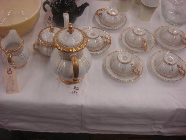 82: 17 piece Tea Set - Fine SEYEI China; Japan #1030 Te