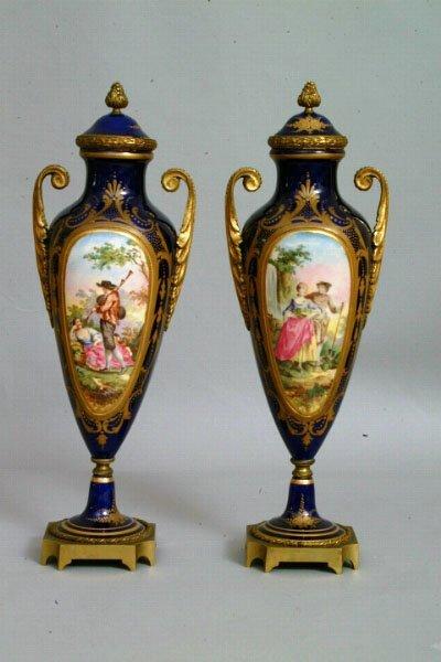 10: Sevres Style Garniture Vases