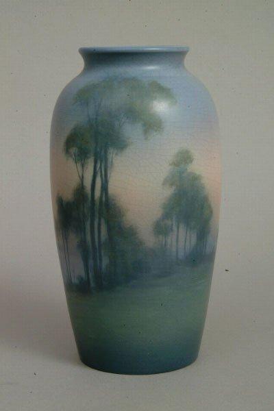 74: Large Rookwood Vellum Vase, L. Asbury